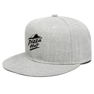 Pizza Hut logo noir Livraison commande en ligne unisexe plat Brim casquette de baseball Styles en cours casquettes de camionneur camouflage noir application drapeau effet 3D
