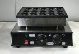 El envío libre 2 PC / porciones eléctricos 25 hoyos Mini Dutch Pancakes fabricante Poffertjes parrilla Pancake Machine