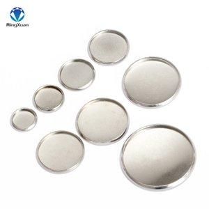 ewelry Accessoires Mingxuan de paramètres ronds en acier inoxydable Cabochon base Bezel Plateaux blanc Fit 6/8/10/12/14/18/20/25 / 30mm Cab ...