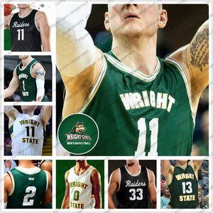 Custom Wright State Raiders 2020 Basketball 11 Loudon Love 1 Bill Wampler 2 Tanner Holden 31 Cole Gentry Men Youth Kid Jerseys 4XL