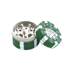 Poker Chip Style herbal tabacco Grinder metallo Grinders pipa Accessori gadget Rosso / Verde / Nero