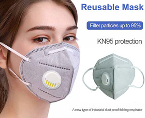 In Stock! Mask with Valve Reusable Face mask High Fashion Face Mask Anti Pollution Anti Dust Individual Package Fast Shipping Filter