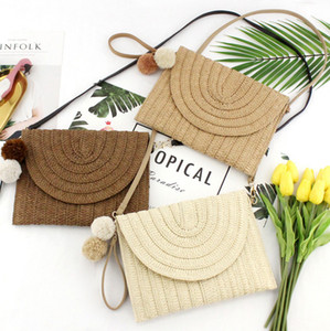 Crossbody Woven Girls Rattan Bohemia Bag Boho Square Handbag Beach Handbag Summer Messenger Island Straw Women Flap Bali Bags Rouis