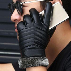 Mode-Nouvelle Arrivée Mode Hommes Femmes Gants En Cuir Haute Qualité Marque Designer Gants D'hiver Casual Doux En Cuir Véritable