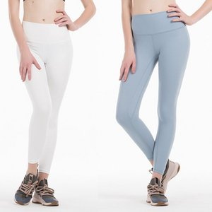 Fest Farbe Frauen Yogahosen mit hoher Taille Qualitäts-Sport Fitnessbekleidung Leggings Elastic Fitness Lady Overall Voll Tights Workout Damenhose