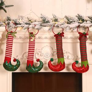 Pamuklu Bez Elf Ayak Kolye Çok Renkler Mix Elfler Çizmeler Noel Festivali Malzemeleri Kapı Askı Yeni Varış 6 2 mg L1