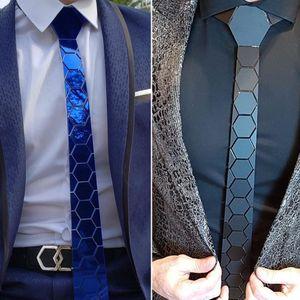 Handmade elegante preto Matt cetim de seda gravata hexágono Gravata Homens de luxo gravata de casamento ternos formais vestido DJ Cantor, Figurino, Hex Ties