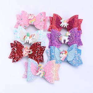 Mädchen Haarschleife glänzend Pailletten Haarnadel Top Clips Cute Einhorn Haarspange Haarspange Kinder Prinzessin Haarschmuck Grips