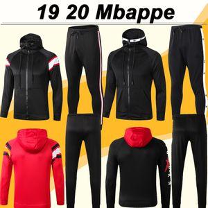 19 20 Mbappé ICARDI Mens Hat Sweater Terno de Futebol CAVANI Draxler Hat Jacket Top DI MARIA camisas do futebol da Capuche roupas de inverno