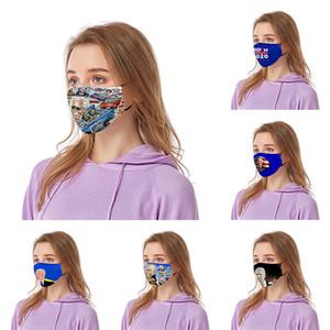 Filtre Yüz Ağız Maskeleri Komik Karşıtı Toz Pamuk ABD Kadın Erkek Unisex Moda Yıkanabilir maskeleri ile Joe Biden tasarımcı yüz maskesi 14 Stiller Maske