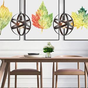 Nuovo lampadario caldo illuminazione Ristorante Lampadario semplice in ferro battuto Anello retrò Industrial Style Personalità Nordic Personality Globe