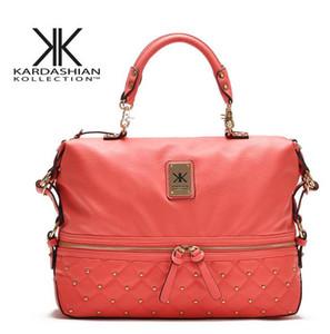 Diseñador de moda marca kollection kardashian cadena negro mujer bolso de gran capacidad bandolera KK totalizadores del bolso de mensajero bolsa de compras libres