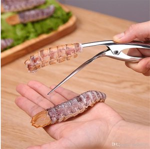 304 Stainless Steel Peel Shrimp Kitchen Tools Crayfish Shell Take Meat Shrimp Separation Device Seafood Gargets Drop Shipping