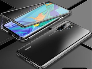 Per Huawei P40 Pro Mobile Phone Case Magnetic assorbimento di metallo di vetro di caso Honor 20 doppi lati Godetevi 10 Custodia protettiva