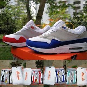 2020 Authentic Qualidade 87 og Anniversary 1 OG Mulheres homens correndo sapatos Desportos aéreos sneakers tamanho trainer 36-45 transporte livre com caixa