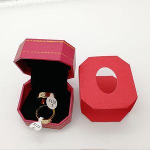 Горячие Титана Из Нержавеющей Стали Любовные Кольца для Женщин Мужчины ювелирные изделия Пары Цирконий Обручальные Кольца Bague Femme 6 мм широкий подарок любовника с коробкой
