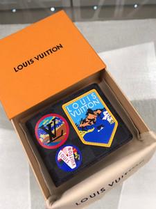 Горячие 2020 мужские и женские кошельки, прочные кожаные, рождественские подарки, бесплатная доставка, модель: N60097 размер 10.5-9-2cm с коробкой