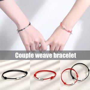 2pcs Couple Bracelet Rope Braided Distance Magnetic Jewelry Lover Kit Magnetic Bracelets Adjustable NYZ Shop