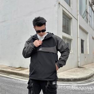Весна Новое качество куртки мужские легкие Windbreak и непромокаемые куртки водонепроницаемый Shell женщин Цветные Hoodie / Передняя молния Jacke 53865