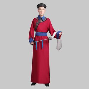 Оптово-Восточный древний костюм мужской длинный халат китайской династии Цин Мужская одежда Этап одежда телевизионный фильм косплей Outfit