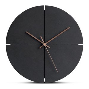 Wooden Hanging Wall Clock 12 Inch Large Silent MDF Wood European Style Wall Clocks Room Office Simple Concise Design Home Decor