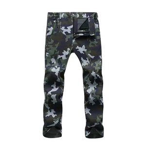 Vogue Outdoor Sports Men Pant Sashes Zipper Spliced Camouflage Casual Trouser Summer Camping Fishing Full Length Pencil Pant
