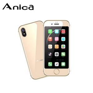 """Suporte do Google Play MTK6580 QuadCore android smartphone 3G 2,5"""" pequeno mini telemóvel 2GB + 16GB + 64GB TF Dual SIM Anica i8 DHL grátis"""
