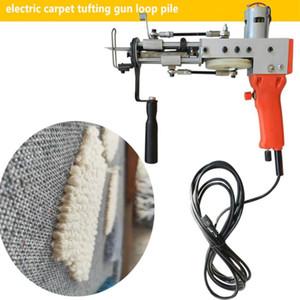 110V 220V tapete elétrico tufo arma pilha de pilha de tricô tapete tapete pilha de loop máquina de tapete elétrico