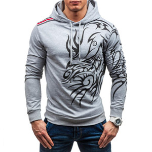 MenS Hoodies 2019 Long Sleeve Sweatshirt 3d Hoodies Camo Printed Hoodie Casual Hooded Tracksuit Big Size Hip Hop Clothing