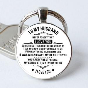 2019 nuova a mio marito di vetro del keychain regalo boyfriend coppie portachiavi