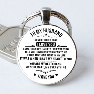 2019 nova Para meu marido vidro moda casal chaveiro dom namorado chaveiro