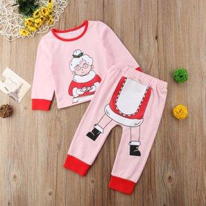 2018 Canis Santa Baby per bambini ragazze dei ragazzi di Natale Homewear Sleepwear Pigiami Autunno Inverno Cartoon Pigiama