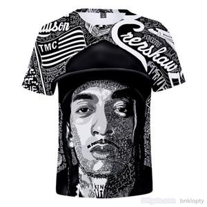 Nipsey Hussle camisetas americano Rapper Verão Moda 3D Designer impressa de manga curta T de T para homens