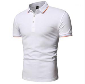 Schlank Polos Sommer Designer Solid Color Short Sleeve Panelled Tshirts Männer beiläufige Kleidung der Männer plus Größe