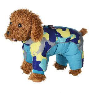 Perro de mascota de invierno chaqueta de la capa espesa ropa de abrigo para perros impermeable reflectante del perrito de Chihuahua Monos Francés Bulldog Ropa