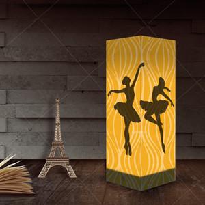 Ballet de la tabla creativa de la lámpara de noche la luz de la sombra 3D Nueva iluminación de la lámpara de papel decorativo para el Estudio Dormitorio