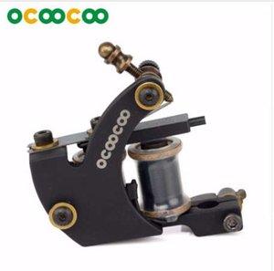 OCOOCOO Tattoo Gun ZUAN ST100 منحوتة الحديد ماستر اينر آلة الوشم عالية الأداء لفائف نهاية 8000 دورة / دقيقة - أسود