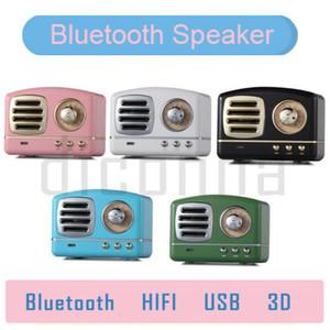Haut-parleur Bluetooth sans fil basse Rétro Vintage Portable Mini trompette stéréo