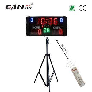 [Ganxin] LED Basketbol Scoreboard Dijital Taşınabilir Elektronik Scoreboard Standı ile