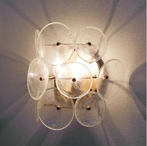 Classic Vintage Crystal Wall Light E27 Base Dormitorio de cabecera Plata Oro Balll Lámpara de pared 220 V Aplique de pared de cristal Iluminación interior LLFA