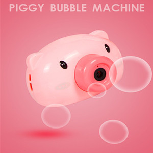 2020 Fun Cute Cartoon Pig Camera Kids Baby Machine Outdoor Automatic Bubble Maker Surprise Gift for Bath Toys for Children