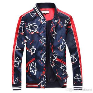 새로운 트렌드 인물 Mens Design Jackets 사이드 슬릿 포켓 후드 자켓 핫 셀러 Five-pointed Star 프린트 젊은 윈드 스포츠 시계