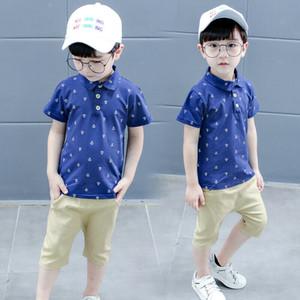 Kleinkind-Kinder-Baby-beiläufige Kleidung Junge Outfits Sommer Sets Short T-Shirt + Pants Dot Tops
