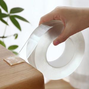 EE.UU. doble echó a un lado de la nave Cintas adhesivas reutilizables lavables sin rieles gel de la PU de la cinta no tóxicos palillo Ambiental de embalaje Herramientas