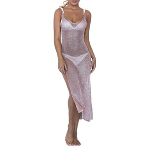 Femmes Sexy Summer Beach Sunscreen Cover-up Maillot de bain -out tricot costume Maillots de bain Mesh Plage Smock