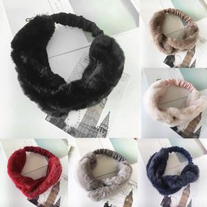 Cabelo Elastic Mulheres Faux Fur Cruz torção Headband Vintage Banda Para Gym Exercício Fitness Senhoras Headband