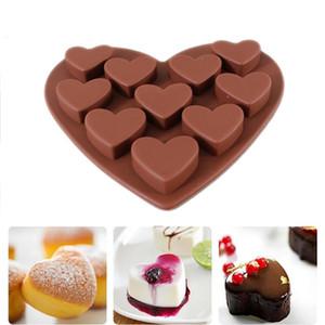 Aşk kalp şekilli silikon kalıpları fondan Kek çikolata MoldTool mutfak pişirme Kazıyıcı 1 adet