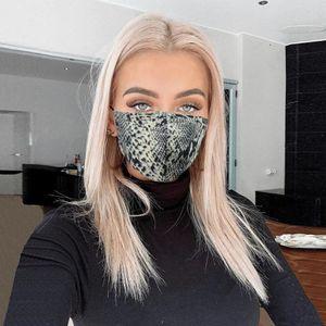 Мода 3D Leopard Печатной маски для лица Женщина Лето Sunproof пыл противотуманно Haze Маска Mouth крышка дышащих моющихся респираторы
