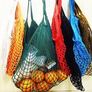 35 * 40CM Mesh Net Turtle сумка Строка хозяйственная сумка Многоразовый Фруктовая хранения сумка Totes Короткая ручка сетка мешок