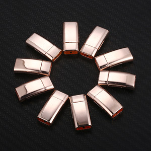 50PCS 25mm 직사각형 자석 버클 마그네틱 걸쇠 커넥터 목걸이 팔찌에 대 한 DIY 만드는 DIY 쥬얼리 부품 액세서리